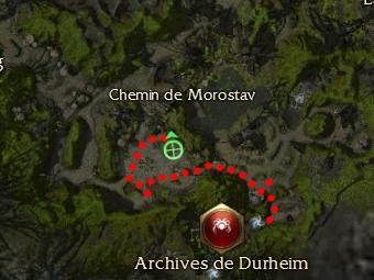 Carte de la quête: Purge du Chemin de Morostav