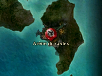 Carte générale - Arène du codex