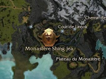 Carte de la quête: L'attaque du Monastère de Shing Jea
