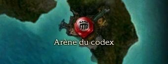 Carte de la quête: Arène du codex (Quête zaishen)