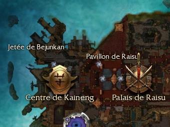 Carte de la quête: Le raid du Centre de Kaineng