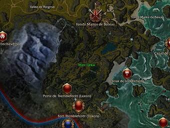 Carte générale - Mont Qinkai
