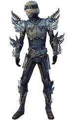 Armure d'Asura pour assassin (Homme) - Gris Face.jpg