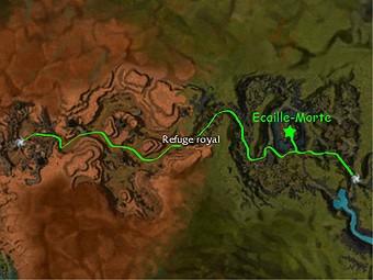 Carte de la quête: Ecaille-Morte (Quête zaishen)