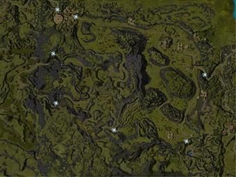 Carte détaillée - Terres maudites
