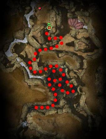 Carte de la quête: Fissure de Moddok (Mission zaishen)