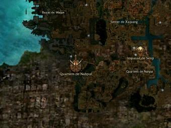 Carte générale - Quartiers de Nahpui