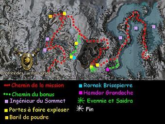 Carte générale - Grottes des Larmes gelées (Mission en mode coopératif)