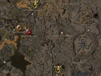 Carte détaillée - Fort Ranik (Mission en mode coopératif)