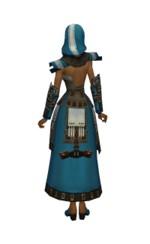 Armure élonienne pour derviche (Femme) - Bleu Dos.jpg