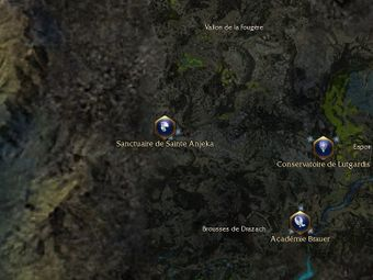 Carte générale - Sanctuaire de Sainte Anjeka