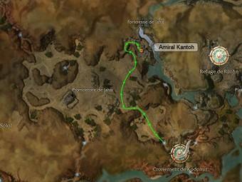 Carte de la quête: Amiral Kantoh (Quête zaishen)