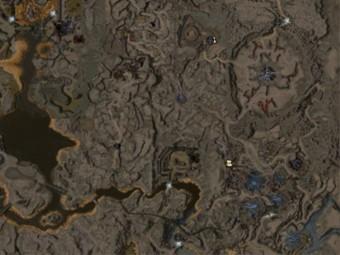 Carte détaillée - Plaines Grêlées