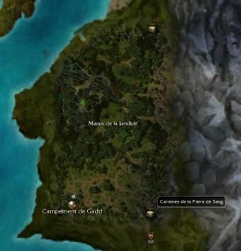 Carte générale - Cavernes de la Pierre de Sang