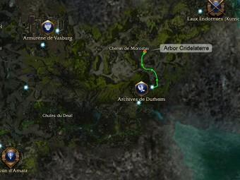 Carte de la quête: Arbor Cridelaterre (Quête zaishen)