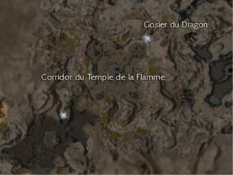 Carte générale - Corridor du Temple de la Flamme