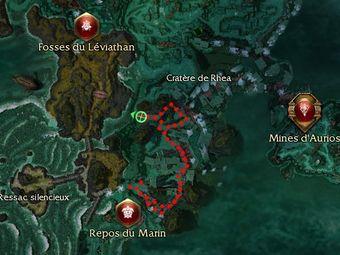 Carte de la quête: Purge du Cratère de Rhea