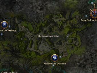Carte générale - Chemin de Morostav