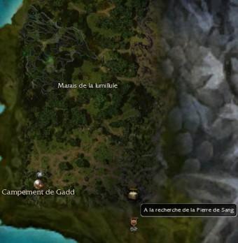 Carte de la quête: A la recherche de la Pierre de Sang