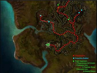 Carte détaillée - Antre de Marée Noire (Mission en mode coopératif)