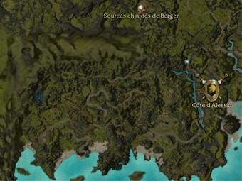 Carte détaillée - Côte d'Alessio (Mission en mode coopératif)