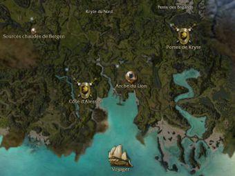 Carte générale - Arche du Lion