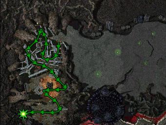 Carte de la quête: La Bête Noire de Arrgh (Quête zaishen)