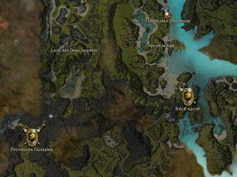 Carte générale - Récif sacré