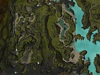 Carte détaillée - Lacs des Serpents jumeaux