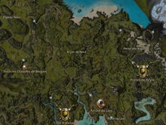Carte générale - Kryte du Nord