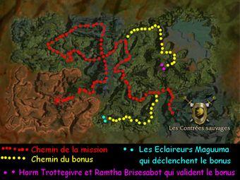 Carte de la quête: Contrées sauvages (Mission zaishen)