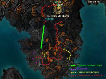 Carte de la quête: Précipice de l'Enfer (Mission zaishen)