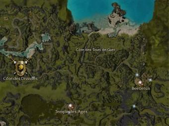 Carte générale - Côte des Tours de Guet