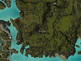 Carte générale - Pic Kesse