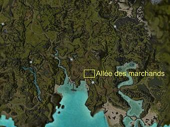 Carte générale - Allée des marchands