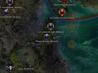 Carte générale - Plaines de Jade