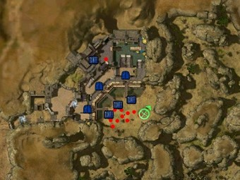 Carte détaillée - Bastion de Dzagonur (Mission en mode coopératif)