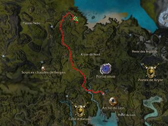 Carte de la quête: Résidents et vils