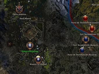 Carte générale - Ruines d'Altrumm
