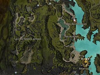 Carte générale - Lacs des Serpents jumeaux
