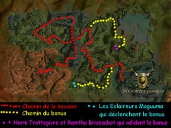 Carte générale - Les Contrées sauvages