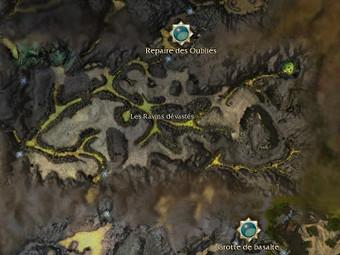 Carte générale - Les Ravins dévastés