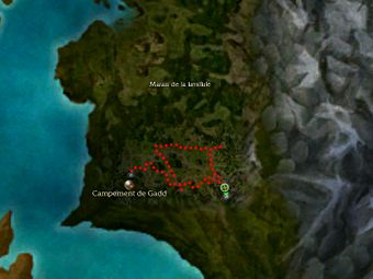 Carte de la quête: A la recherche de Gadd