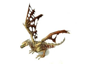 Dragon d'os miniature