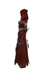 Armure de Lancier d'élite pour derviche (Femme) - Marron + rouge Gauche.jpg