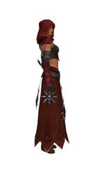 Armure de Lancier d'élite pour derviche (Femme) - Marron + rouge Droite.jpg