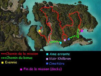Carte de la quête: Récif sacré (Mission zaishen)
