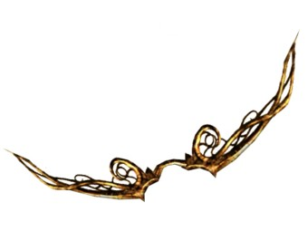 Arc de cornes en ronces