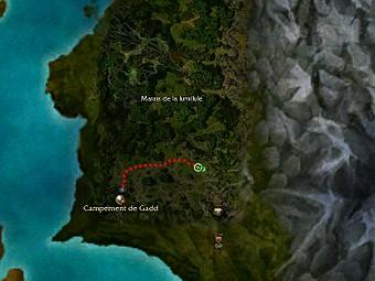 Carte de la quête: Mobrin, le Seigneur des marais (Quête zaishen)