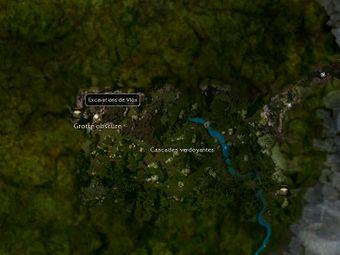 Carte générale - Excavations de Vlox